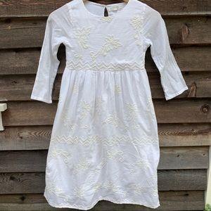 Zara Long White Boho Dress